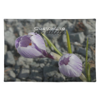 Purple Spring; Customisable Place Mats