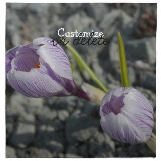 Purple Spring; Customizable Printed Napkins