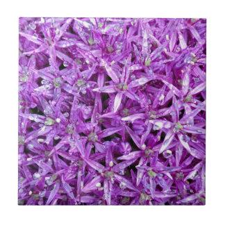 Purple spring floral background ceramic tile