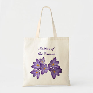 Purple Spring Floral Mother of the Groom Budget Tote Bag