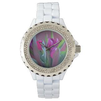 Purple Spring Tulips Watch