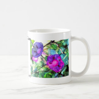 Purple Springtime Flowers CricketDiane Coffee Mug
