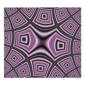 Purple Square Pattern Photographic Print