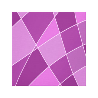 Purple Squares Design Artwork Canvas Print