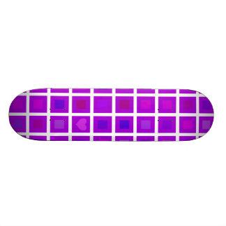Purple Squares with a Little Heart Skateboards