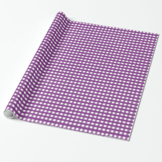 Purple Squares Wrapping Paper
