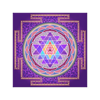 Purple Sri Yantra Canvas Print