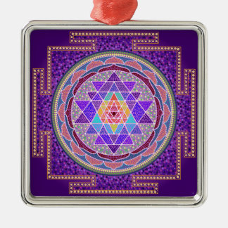Purple Sri Yantra Ornament