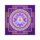 Purple Sri Yantra Stretched Canvas Prints