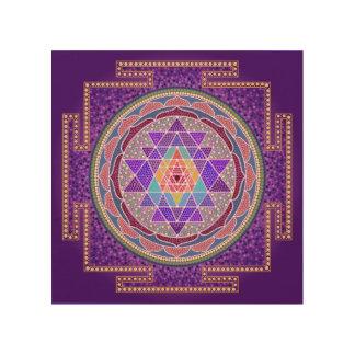 Purple Sri Yantra Wood Canvases