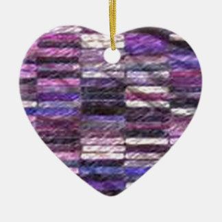 purple stack fabric christmas ornament