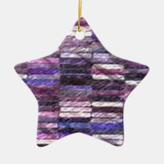 purple stack fabric christmas tree ornament