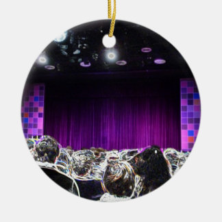 Purple stage solarized theater design christmas ornament