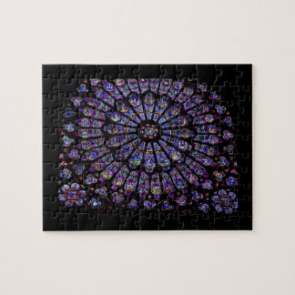 Purple Stained Glass Church Window Puzzle