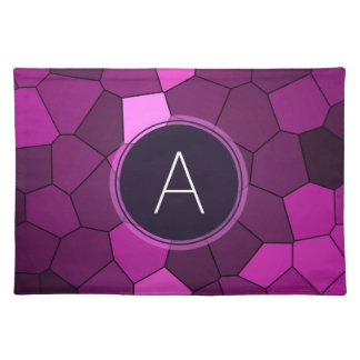 Purple Stained Glass Mosaic Placemats