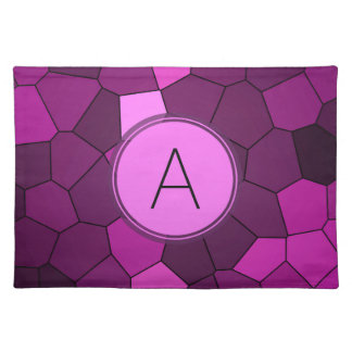 Purple Stained Glass Mosaic Place Mat