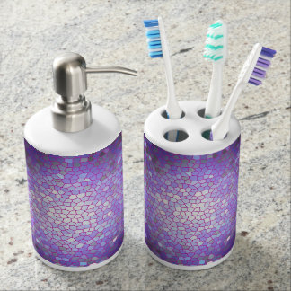 Purple Stained Glass Mosaic Soap Dispenser