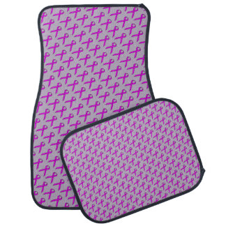 Purple Standard Ribbon by Kenneth Yoncich Car Mat