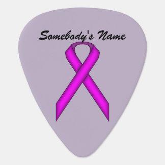 Purple Standard Ribbon by Kenneth Yoncich Guitar Pick