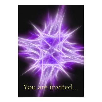 Purple Star 1 13 Cm X 18 Cm Invitation Card