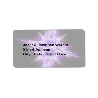 Purple Star 1 Address Label