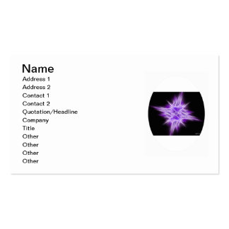 Purple Star 1 Pack Of Standard Business Cards