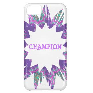 PURPLE Star: CHAMPION Script iPhone 5C Case
