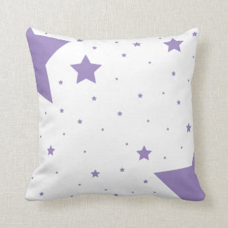 Purple Star Collection Throw Pillow