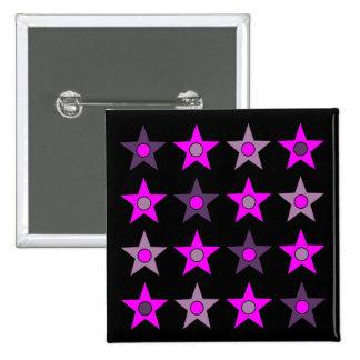 Purple Star Design Pinback Buttons