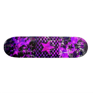 Purple Star Explosion Skate Board Decks
