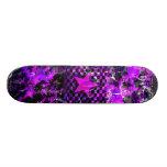 Purple Star Explosion Skateboard