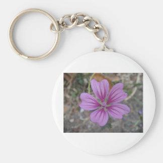Purple star flower keychain