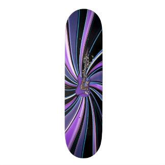Purple Star Fractal Electric Guitar Skateboard