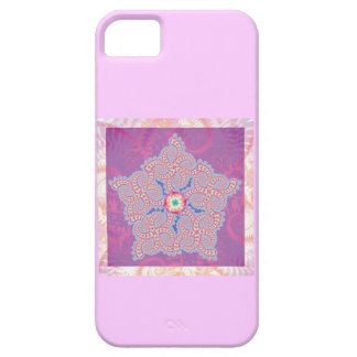 Purple Star Fractal Pattern Case For The iPhone 5