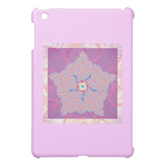 Purple Star Fractal Pattern iPad Mini Cover
