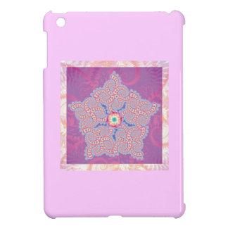 Purple Star Fractal Pattern iPad Mini Cover