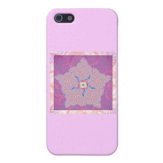 Purple Star Fractal Pattern iPhone 5/5S Case