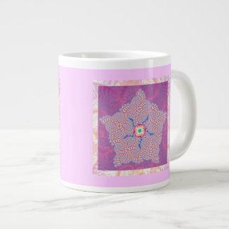 Purple Star Fractal Pattern Large Coffee Mug