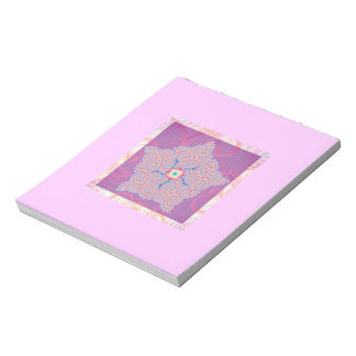 Purple Star Fractal Pattern Notepad