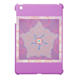 - Purple Star Fractal Pern iPad Mini Cover