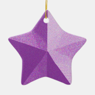 Purple Star Glitter look Ornament Template