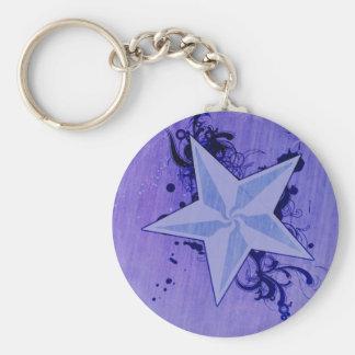 Purple Star Keychains