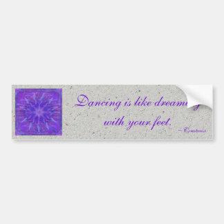 Purple Star Mandala Bumper Sticker