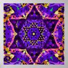 Purple Star Mandala Poster