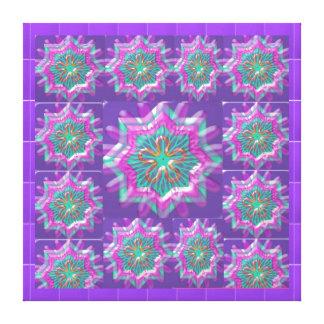 Purple STAR : Motivational Inspirational Art Canvas Print