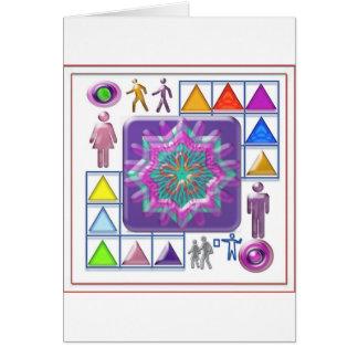 PURPLE STAR n Cartoon Images: Elegant GIFTS f kids Greeting Card