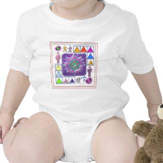 PURPLE STAR n Cartoon Images: Elegant GIFTS f kids Baby Bodysuits