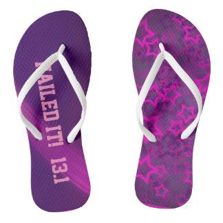 Purple Star Nailed it! Flip Flops
