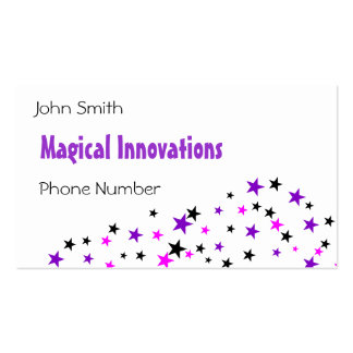 Purple Star Pack Of Standard Business Cards