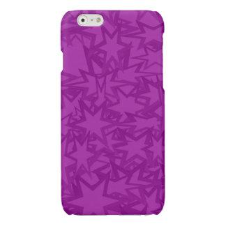 Purple Star Pattern iPhone 6 Plus Case